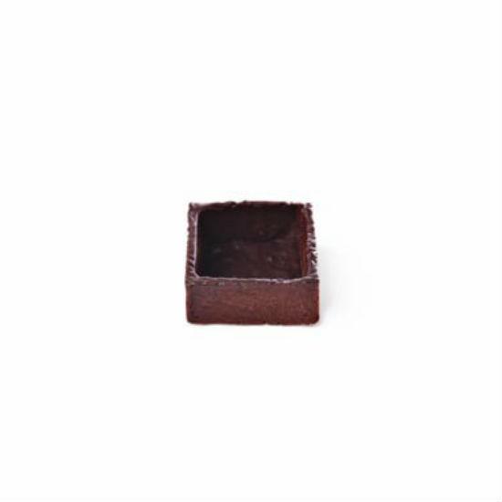 Fond de Tartelette Chocolat Carré 3.8cm