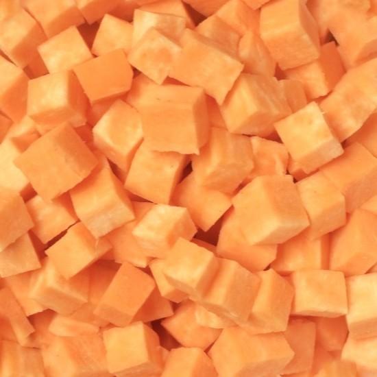 patates douces en cubes