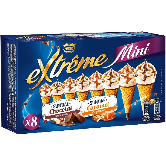 Mini Extrême Cônes Sunday Chocolat Sunday Caramel