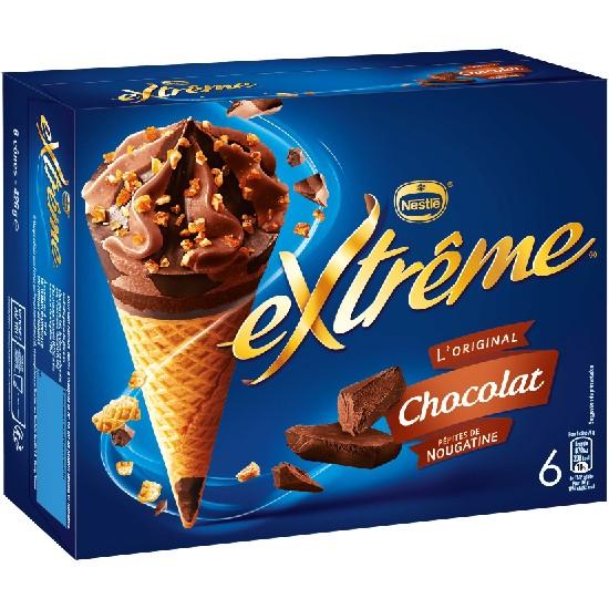Extrême Cônes Chocolat Pépites de Nougatines