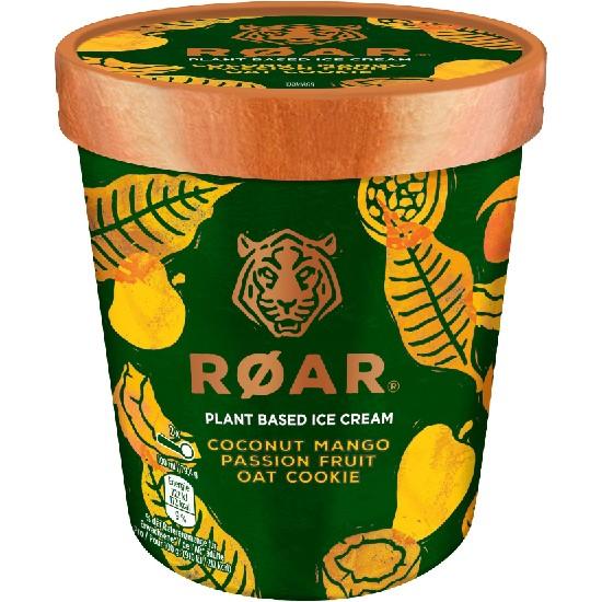 Pot Roar Glace Noix Coco Sauce Mangue Passion Biscuits d'Avoine 500ml