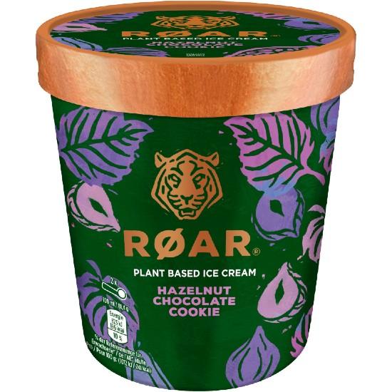Pot Roar Glace Noisette Morceaux de Cookies Eclat de Noisettes 500ml