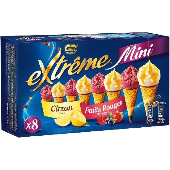 Mini Extrême Cônes Citron Fruits Rouges