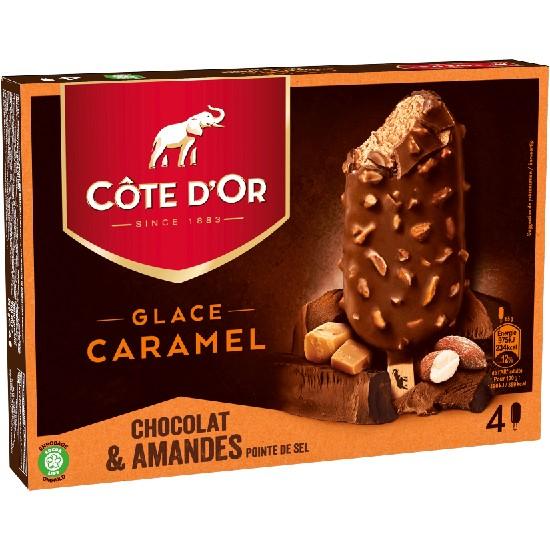 Côte d'Or Caramel Enrobage Chocolat et Amandes Pointe de Sel 90ml